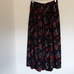 SUSAN BRISTOL Floral Maxi Zippered Skirt Size 12